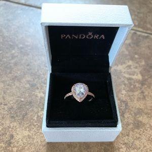 Pandora's Rose Gold Teardrop Ring